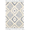 This item: Apache Dark Blue and Cream Rectangle 3 Ft. x 5 Ft. Rugs
