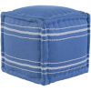 This item: Bande Denim and White 16-Inch  Pouf