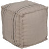 This item: Bande Khaki and Black 16-Inch  Pouf