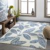 This item: Bodrum Pale Blue Rectangular: 6 Ft. 11 In. x 9 Ft. Indoor-Outdoor Rug