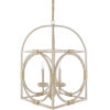 This item: Braylee White and Black 18-Inch Four-Light Pendant