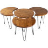 This item: Selene Natural Accent Table Set
