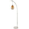 This item: Graysen Nickel and Amber 15.25-Inch One-Light Floor Lamp