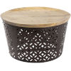 This item: Jaali Natural and Black Cocktail and Coffee Table