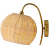 This item: Mina Rattan One-Light Wall Sconce
