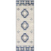 This item: Monaco Navy and Gray Runner 2 Ft. 7 In. x 7 Ft. 3 In. Rugs