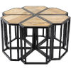 This item: Petal Natural and Black 6-piece Cocktail and Coffee Table