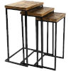 This item: Troyes Natural and Black Nesting Accent Table, 3 Pieces