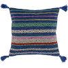 This item: Trenza Dark Blue 22-Inch Throw Pillow