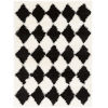 This item: Winfield Black and Ivory Rectangle 5 Ft. 3 In. x 7 Ft. 3 In. Rugs