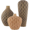 This item: Waves Taupe Vases, Set of 3