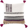 This item: Zuri White and Charcoal 22-Inch Throw Pillow