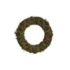 This item: Christmas Market Green and Red Moss Wreath with Twine Garland and Wood Bead