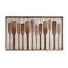This item: Wood Raised Paddles Wall Décor