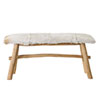This item: Wood Bench with Goat Skin Top