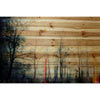 This item: Tall Tree Silhouette 60 x 40 In. Painting Print on Natural Pine Wood