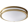 This item: Oracle Aged Brass 18-Inch One-Light LED Flush Mount with Matte White Shade