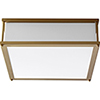 This item: Modulo Aged Brass Two-Light LED Flush Mount