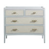 This item: Jane Soft Sky Blue and Satin Gold 44-Inch Chest