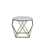 This item: Kristie Volakas Marble And Dark Bronze End Table