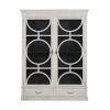 This item: Rhett Sesame White and Satin Black 66-Inch Cabinet