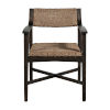 This item: Richard Dark Brown and Natural Seagrass 32-Inch Arm Chair