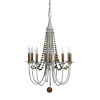 This item: Elaine Champagne Silver and Matte White Nine-Light Chandelier