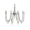 This item: Vintage Silver And Distressed Gray Eight-Light Chandelier