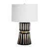 This item: Sweeney White and Antique Brass Two-Light Table Lamp