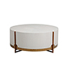 This item: Clifton White Cerused Oak And Brass Coffee Table