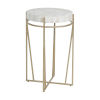 This item: Krissa Champagne and White Side Table