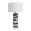 This item: Arlene Blue and White One-Light Table Lamp
