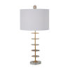 This item: Gianna Vintage Gold and White One-Light Table Lamp