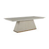 This item: Ferris Cerused White and Gold Dining Table