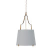 This item: Arbella Vintage Gold and White Two-Light Pendant