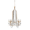 This item: Neville Vintage Gold and Distressed Ivory Eight-Light Chandelier