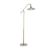 This item: Raphael Matte Brass and Matte White Floor Lamp