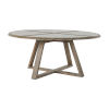 This item: Edmond Cerused White and Natural Dining Table