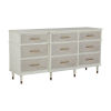 This item: Leona Parchment White and Antique Brass Dresser
