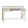 This item: Ember Cerused White and Antique Brass Desk