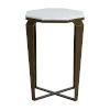This item: Marigold White and Brushed Copper 23-Inch Side Table