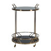This item: Randall Black and Brushed Gold 27-Inch Bar Cart