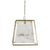 This item: Stacey Champagne Silver Four-Light Chandelier
