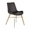 This item: Hines Charcoal Brown and Gold Dining Chair