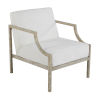 This item: Zilar White and Gray 26-Inch Lounge Chair