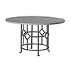 This item: King Antique White Wash and Black Iron 54-Inch Dining Table