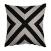 This item: Halo Black and Dove 20 x 20 Inch X-Stripe Pillow with Knife Edge