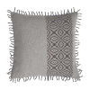 This item: Tribal Stripe Pewter 20 x 20 Inch Pillow with Rope Loop Trim