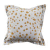 This item: Spotty Mustard 20 x 20 Inch Pillow with Linen Single Flange