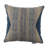 This item: Aztec Indigo and Chambray Velvet 20 x 20 Inch Pillow with Knife Edge